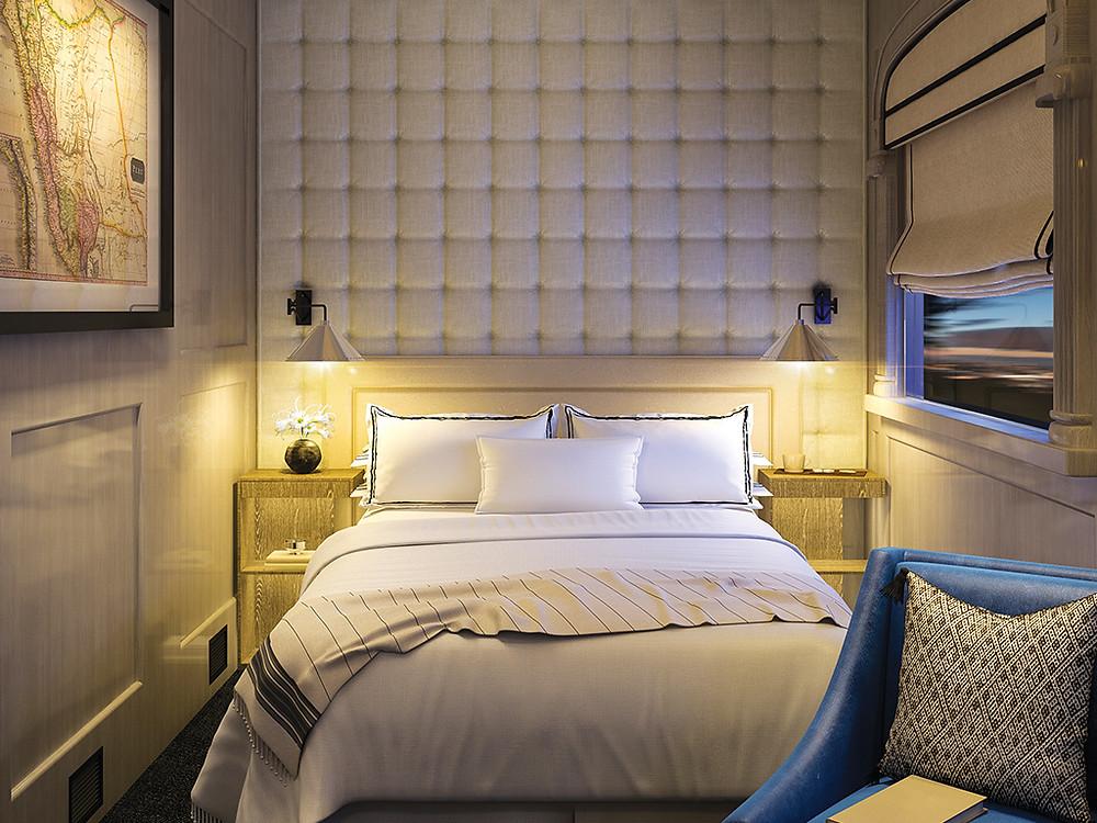 The Andean Explorer luxury train cabin