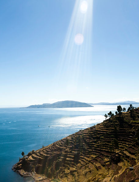 Sunshine during a visit to Lake Titicaca on a Taquile Island tour
