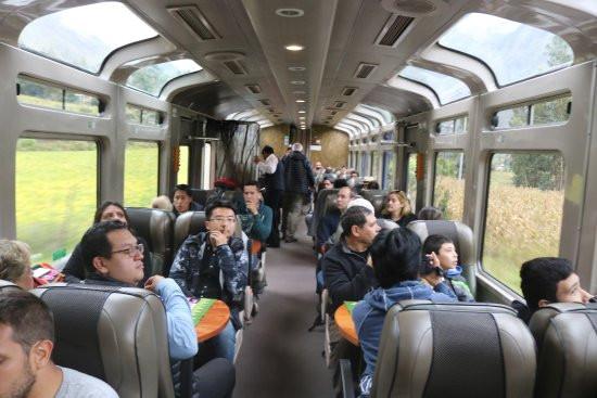 Vistadome Train from Ollantaytambo to Aguas Calientes
