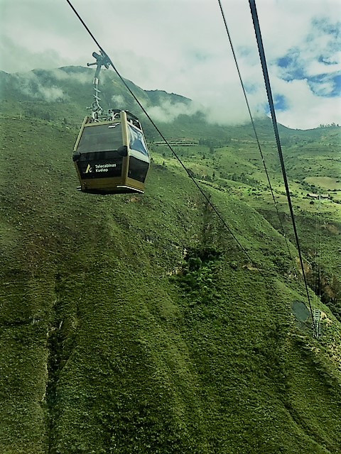 The Kuelap cable cars make getting to Kuelap fun
