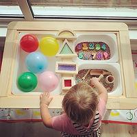 Colours and shapes sensory tray