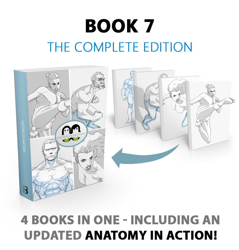 Masters Of Anatomy Book 7: Figure Drawing, Action and Fighting Poses