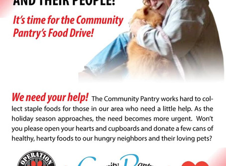 Helping Pets and Their People in Hemet! Holiday Pet and People Food Drive.