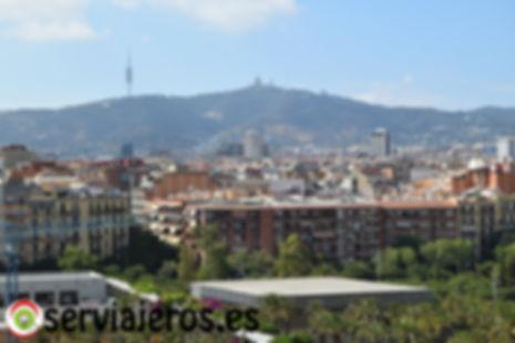 Al fondo el Tibidabo y la Torre de Collserola