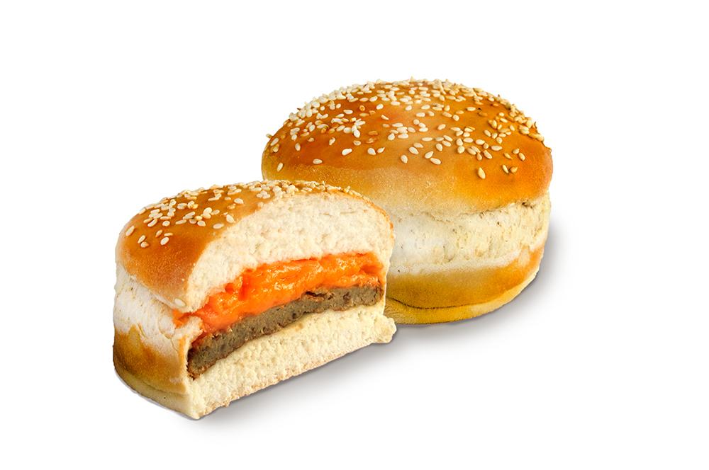 Mini Burger com cheddar