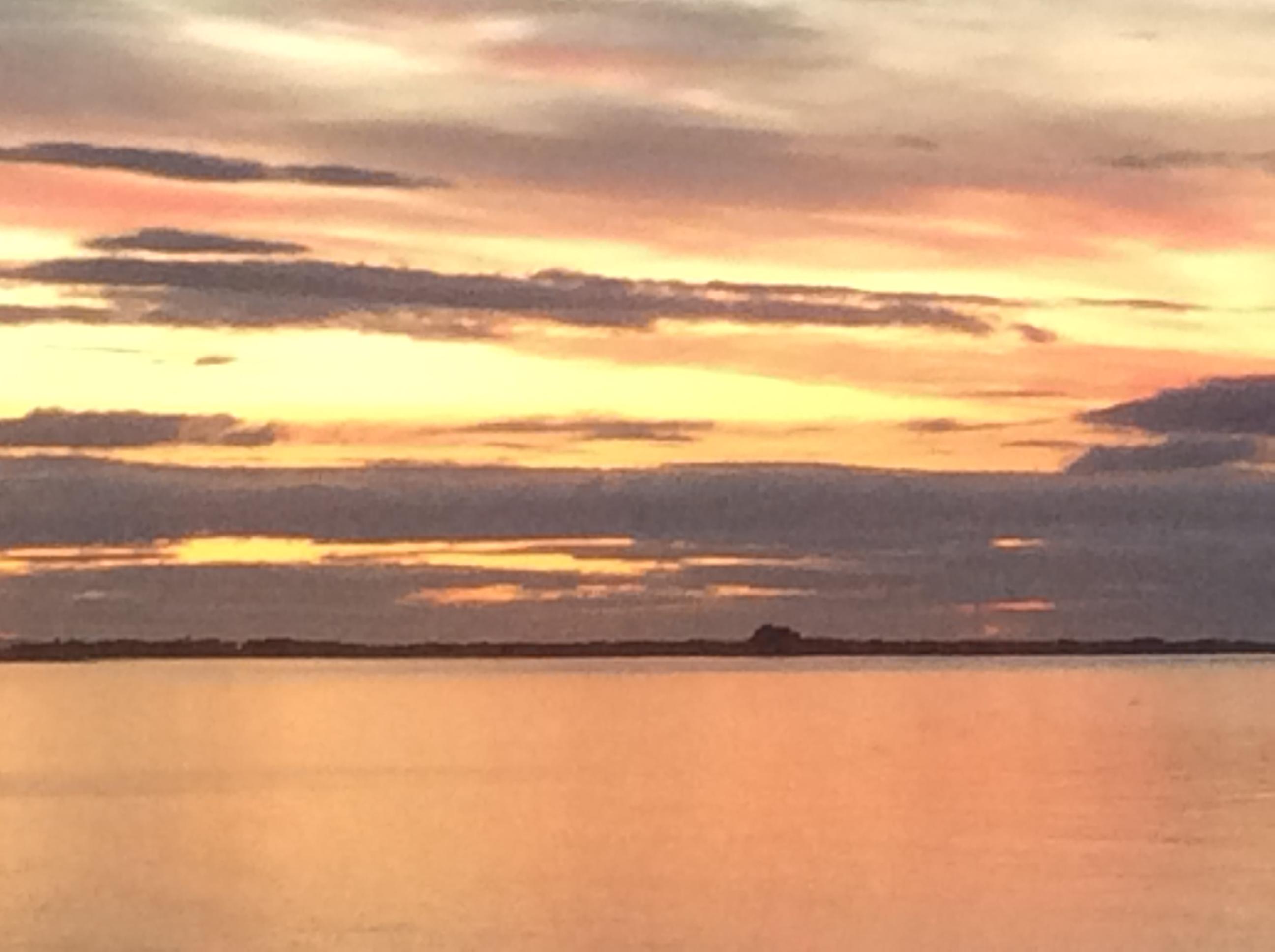 Holy Island sunset