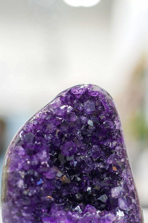 Uruguayan Deep Purple  Amethyst Geode