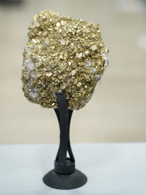PYRITE ON METAL STAND