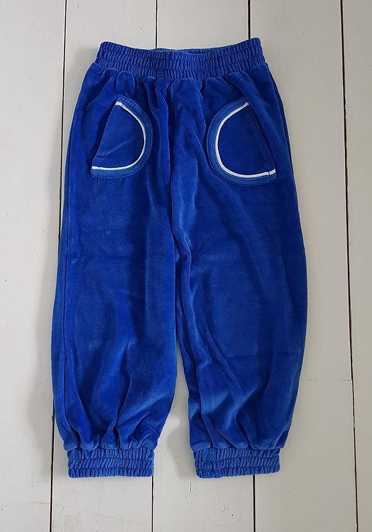 Velour blue pants