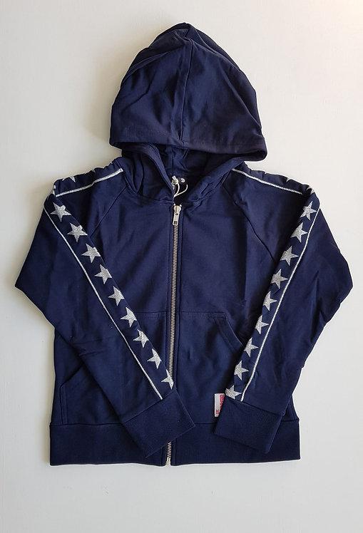 Navy silver stars hoodie