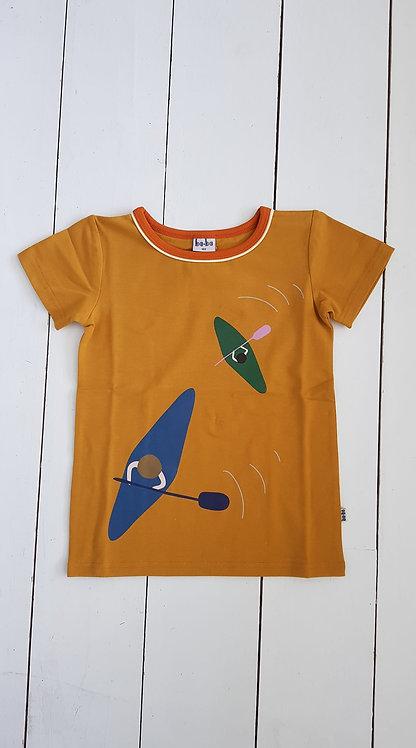 Mustard kayak tshirt