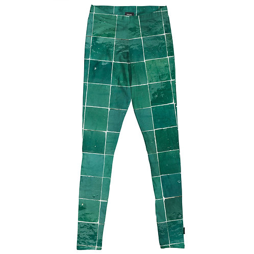 Emerald tiles leggings