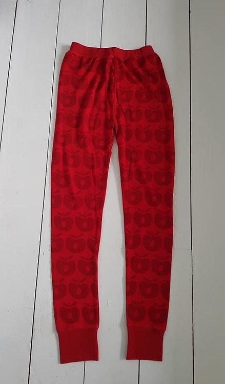 Wool leggings red apples
