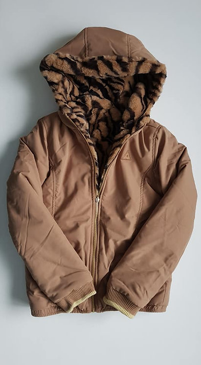 Reversible zebra zip up jacket