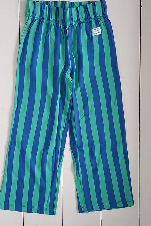 Striped pants green