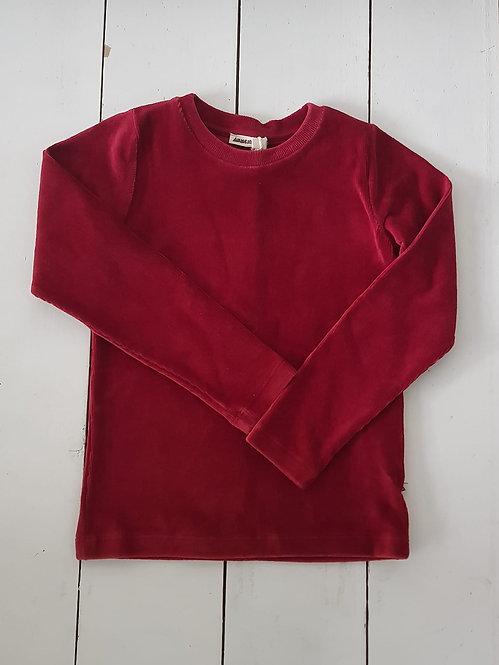 Rib velour red top