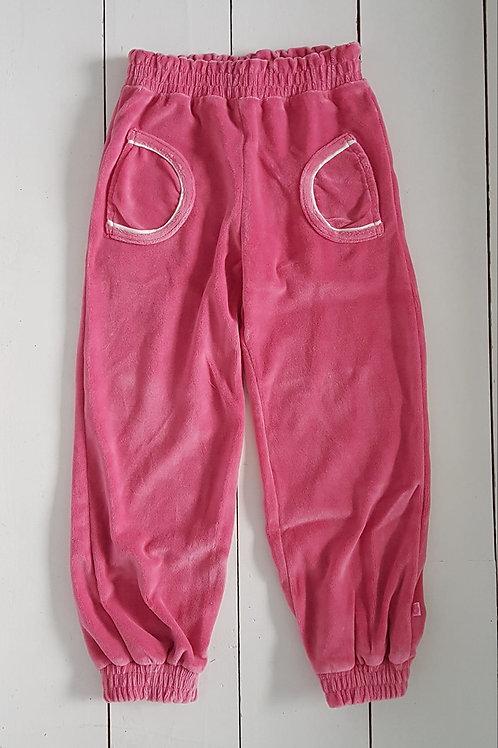 Velour pink pants