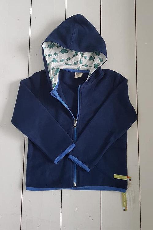 Fleece zip hooded jacket ultramarine