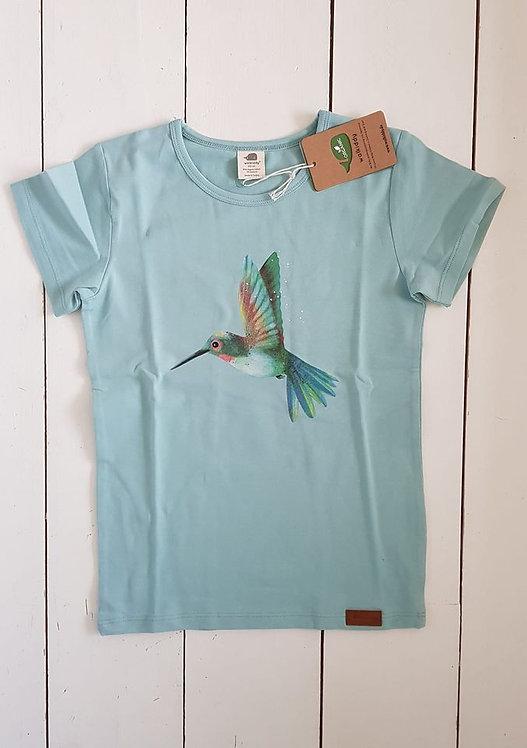 One print hummingbird tshirt