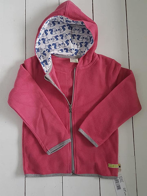Fleece zip hooded jacket