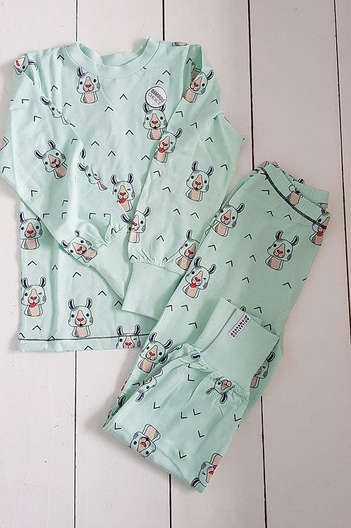 Lama pyjama mint