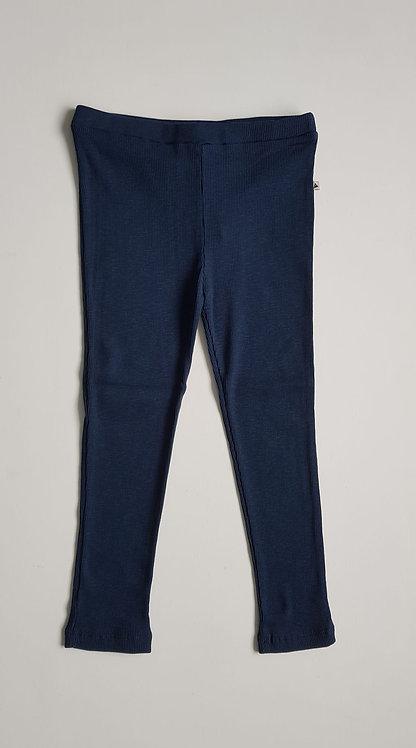 Rib blue leggings