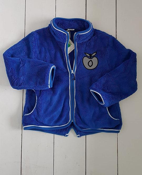 Fleece blue zip top