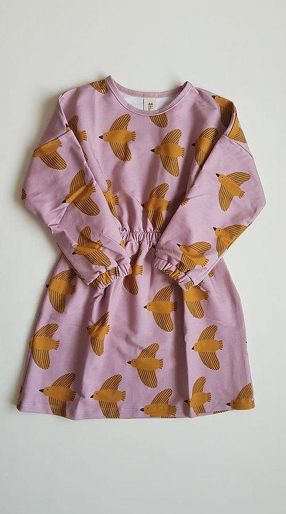 Yellow birds waist dress