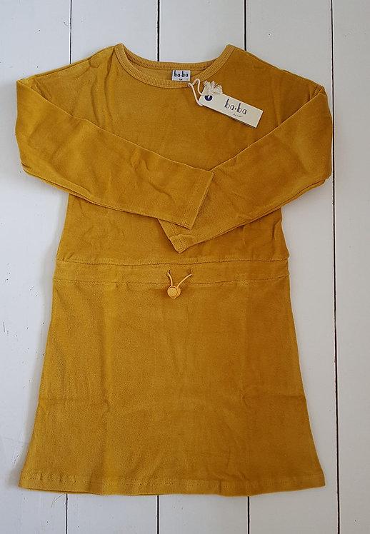 Dress velour mustard yellow