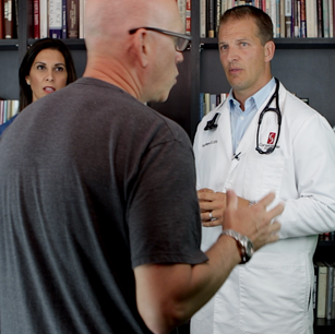 A doctor playing an actor, not the other way around