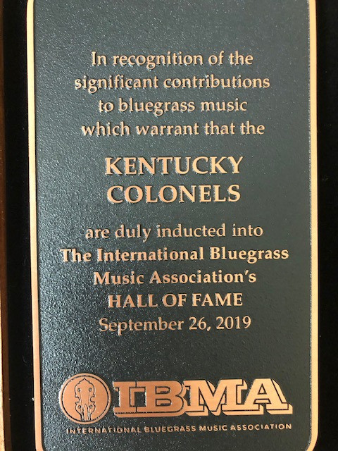 Inducted into the IBMA Hall of Fame on September 26, 2019