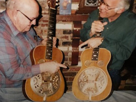 Tut Taylor comparing our 1930 206 dobro