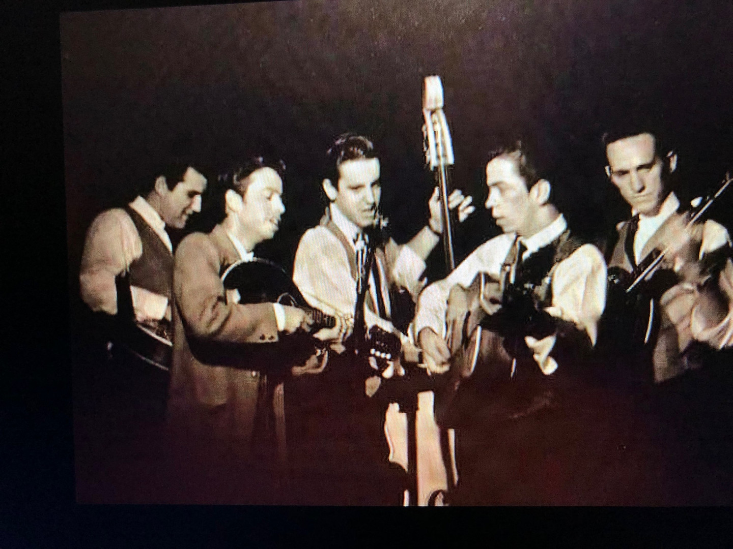 Left to Right: LeRoy Mack, Roland White, Roger Bush, Clarence White, Billy Ray Lathum