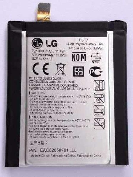Bateria Lg Optimus G2 D805 Bl-t7 Blt7 3.8v 3000 Mah