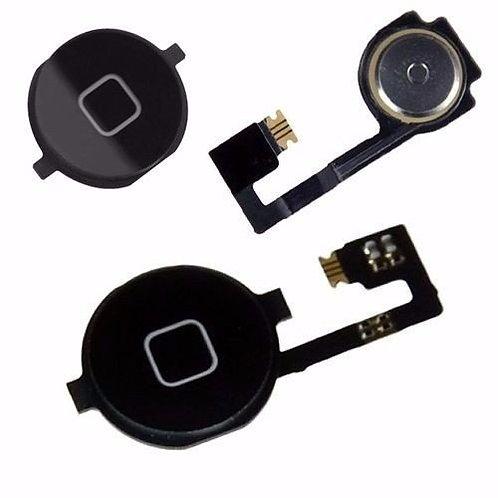 Botão Home Menu Button Flex Cable Iphone 4s Preto