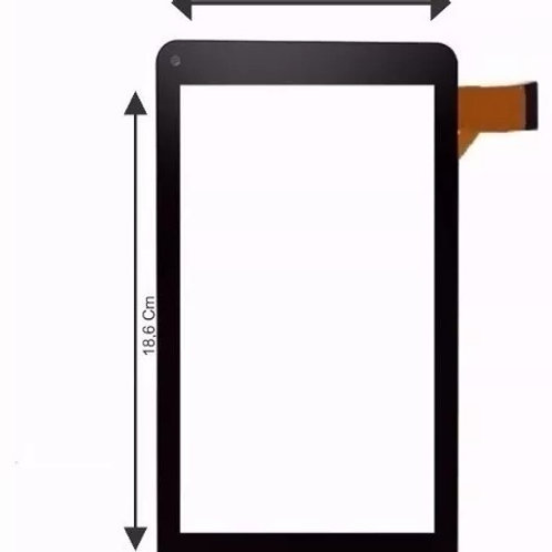Tela Touch Tablet Tp266bra Tp266 Dl X Pro Dual Preto Intel