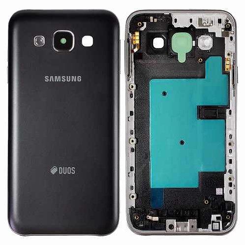 Carcaça Aro Tampa Samsung Galaxy E5 Sm-e500 Preto