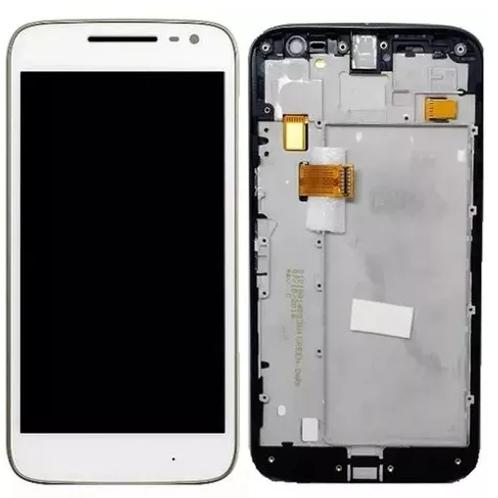 Display Tela Touch Moto G4 Xt1626 Xt1622 C/ Aro Branco Novo