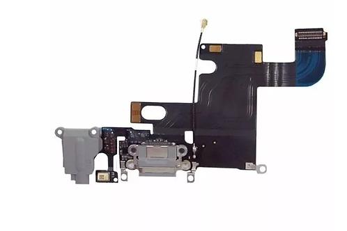Flex Conector Carga Fone Microfone Iphone 6g Preto