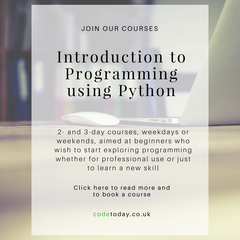 Programming in Python for beginners, London