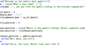 Goblin Hunt >>> Lesson 4: Refining our game