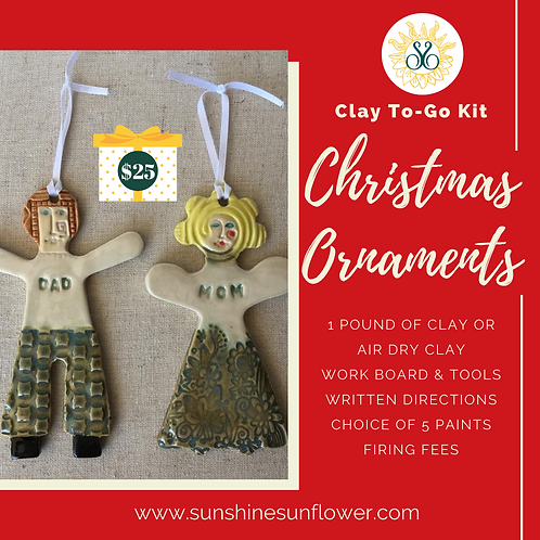 Clay To-Go Kit: Christmas Ornaments
