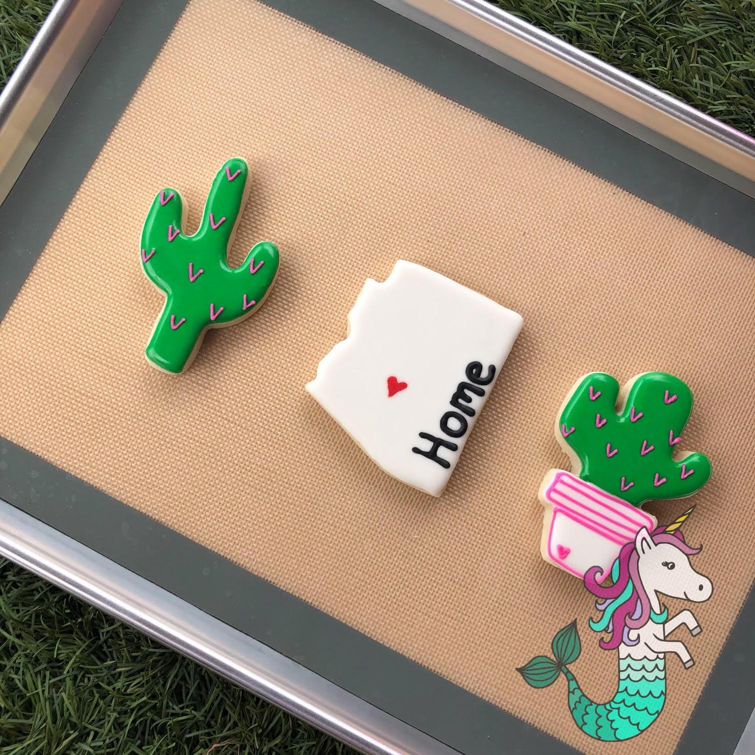 Cactus Cookies with Bazaar Breezy 8/14