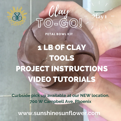 Clay To-Go Kit: Petal Bowl