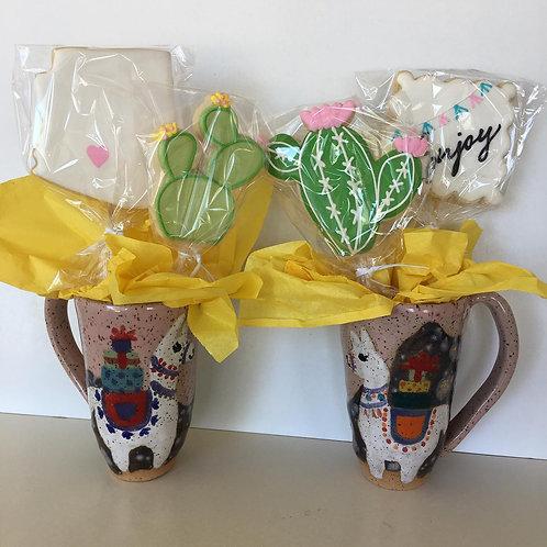 AZ Mug & Cookie Gift Set for Two