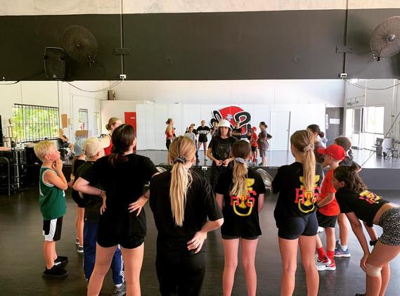 Junior dance class