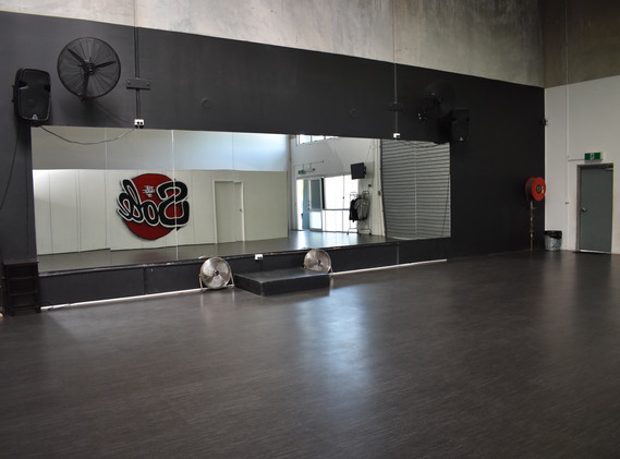 The studio from the back