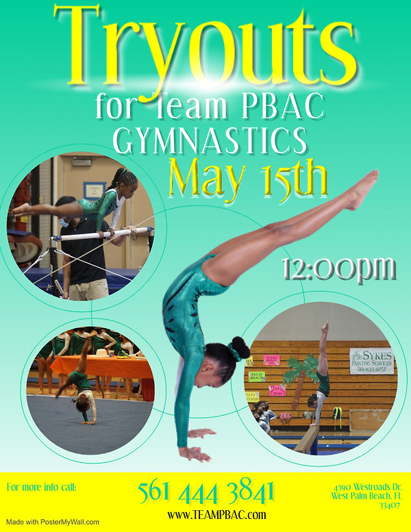 Copy of Gymnastics Poster Template - Mad