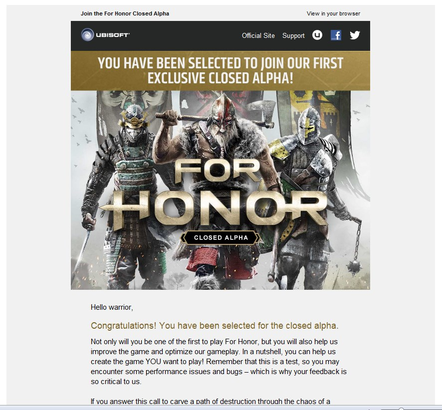 For honor alpha invite