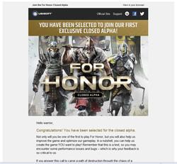 For honor alpha invite